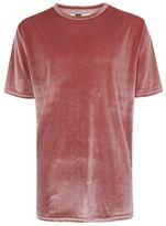 Topman Pink Velour Oversized T-Shirt