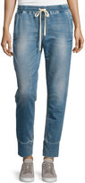 Joe's Jeans Distressed Denim Jogger Pants, Leomie Blue