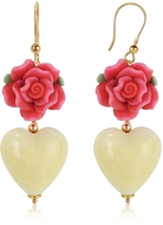 Murano House of Heart Glass Drop Earrings