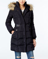 Rachel Roy Faux-Fur-Trim Puffer Coat, Only at Macy's