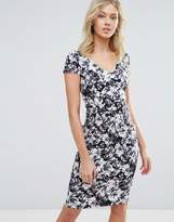 Vesper Floral Midi Dress With Capped Sleeve
