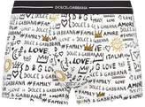 Dolce & Gabbana Doodle Print Trunks
