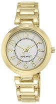 Nine West NW/1892SVGB Goldtone Easy-To-Read Link Bracelet Watch