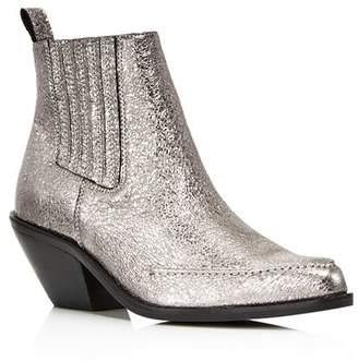 Kenneth Cole Women's Rory Crackled Metallic Leather Booties