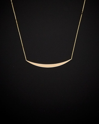 Italian Gold 14K Curved Bar Necklace