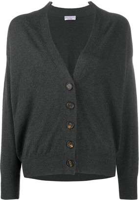 Brunello Cucinelli V-Neck Knitted Cardigan