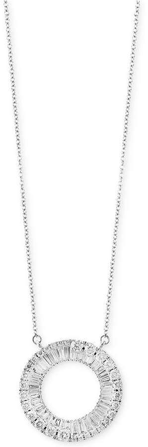 Effy Classique by Diamond Circle Pendant Necklace (1-1/10 ct. t.w.) in 14k White Gold