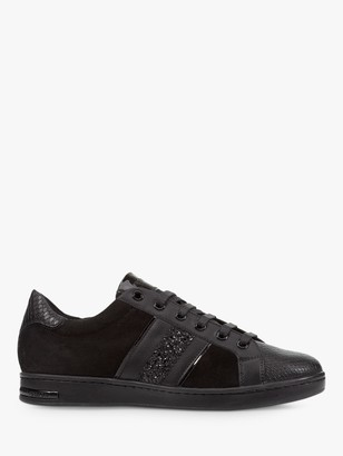 Geox Women's Jaysen Lace Up Trainers, Black