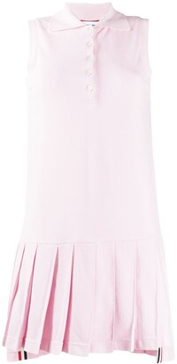 Thom Browne Collared Pleated Tennis Dress