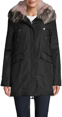 Nicole Benisti Belleville 2-in-1 Fox Fur Parka Coat