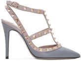 Valentino Garavani Valentino Grey & Pink Rockstud Cage Heels