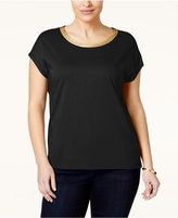 MICHAEL Michael Kors Size Metallic-Trim T-Shirt