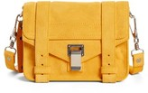 Proenza Schouler 'Mini Ps1' Suede Crossbody Bag - Yellow