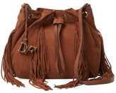 Diane von Furstenberg Voyage Boho Leather Bucket Bag