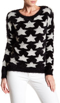 Romeo & Juliet Couture Long Sleeve Star Print Pullover