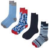 Lucky Brand Assorted Crew Cut Socks - Pack of 4