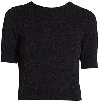 Acne Studios Lurex Short-Sleeve Sweater