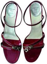 Christian Dior Red Patent leather Sandals