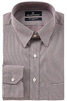 Hart Schaffner Marx Non-Iron Fitted Classic-Fit Hidden Button-Down Collar Checked Dress Shirt
