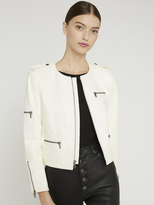 Alice + Olivia CAM LEATHER BIKER JACKET