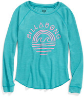 Billabong &Waves R Free& Graphic Thermal Raglan Sleeve Tee (Big Girls)