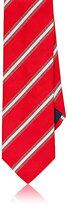 Barneys New York Men's Diagonal-Striped Woven Necktie-RED