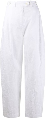 Lanvin Crinkle Effect Suit Trousers