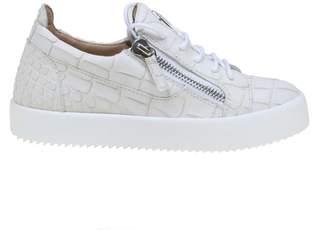 Giuseppe Zanotti Gail Coco Sneakers In Leather White Color