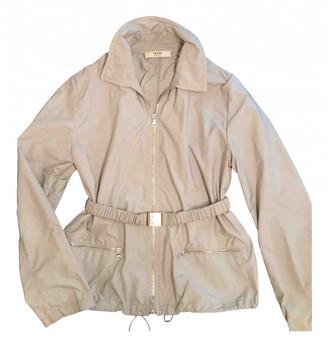 Prada Grey Polyester Leather jackets