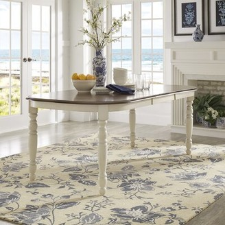 Three Posts Itchington Butterfly Leaf Rubberwood Dining Table Color: Antique White/Cherry
