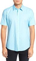 Zachary Prell Weinman Regular Fit Print Short Sleeve Sport Shirt