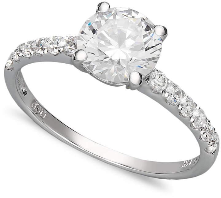 Arabella 14k White Gold Ring, Swarovski Zirconia Wedding Ring (2-3/4 ct. t.w.)