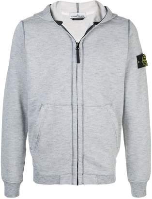 Stone Island compass badge zip-up hoodie