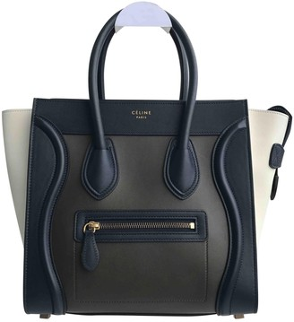 Celine Luggage Navy Leather Handbags