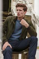 Mens Barbour Blue Herringbone Jumper