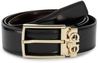 Salvatore Ferragamo Logo Hardware Leather Belt