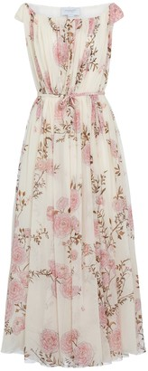 Giambattista Valli Floral silk georgette maxi dress
