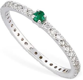 Vanzi Annagreta Diamond & Emerald Ring