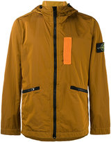 Stone Island Orange Nylon Metal Flock jacket