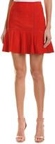 Alice + Olivia Delma Suede Flare Skirt