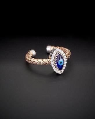 Italian Gold Meshmerise 14K Rose Gold 0.15 Ct. Tw. Diamond Evil Eye Ring