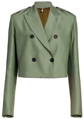 Helmut Lang Double-Breasted Cropped Blazer