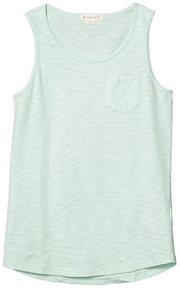 crewcuts by J.Crew Pocket Tank Top (Toddler/Little Kids/Big Kids) (Mint) Girl's Clothing