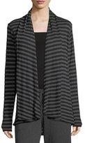Allen Allen Striped Swing Cardigan