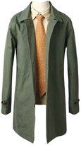Mmoriah Men's Premier Pure Cotton Single Trench Mac Coat