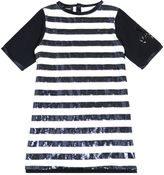Diesel Sequin Striped Cotton Jersey Dress