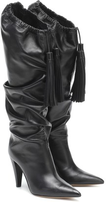 Alexandre Vauthier Emmanuelle knee-high leather boots