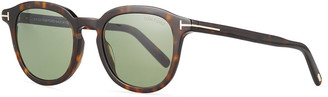 Tom Ford Men's Pax Round Acetate Sunglasses