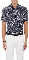 Etro Men's Poplin Slim Short-Sleeve Shirt