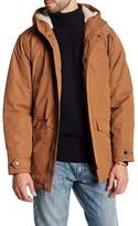 Ben Sherman Funnel Neck Faux Shearling Hooded Jacket